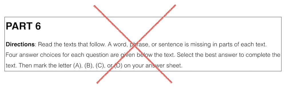 TOEIC Part6 directions