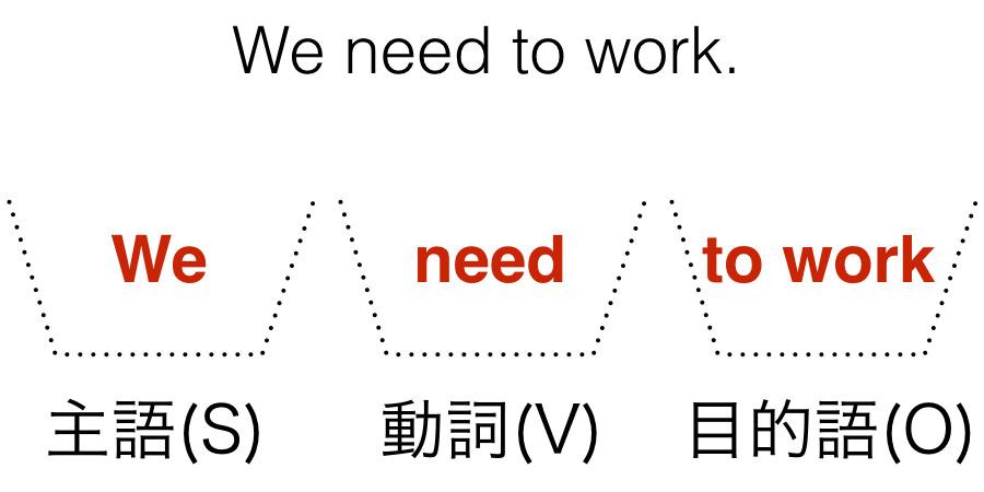 We need to work