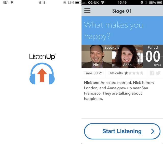 ListenUp – 英会話リスニングチャレンジ