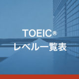 TOEICレベル一覧表!目標スコアと英語で実際にできること