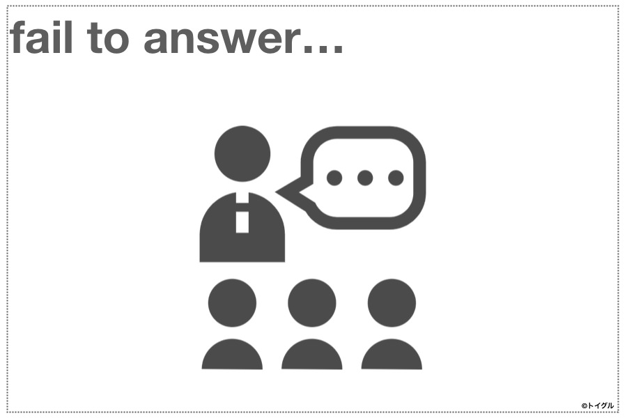 fail to answer