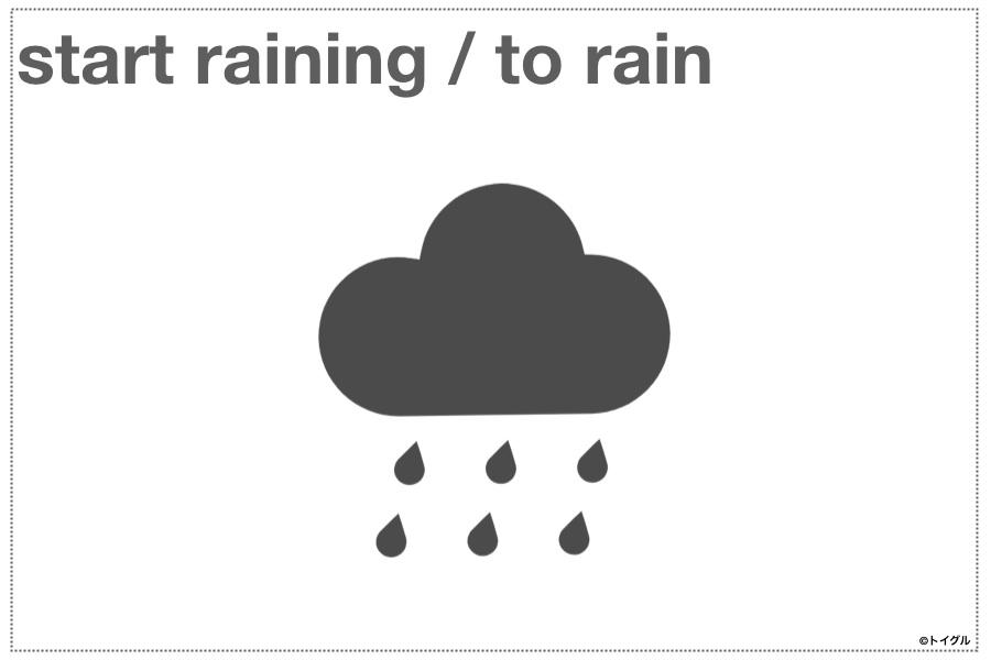 start raining