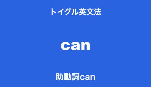 助動詞can